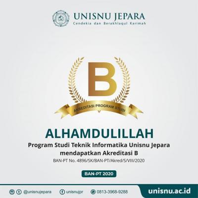 Program Studi Teknik Informatia mendapatkan Akreditasi B