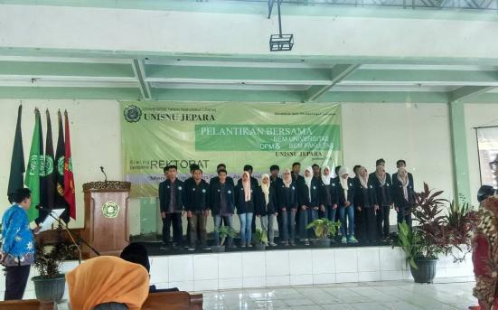 Pelantikan Bersama Badan Legislatif dan Eksekutif Mahasiswa UNISNU Jepara Masa Bhakti 2016